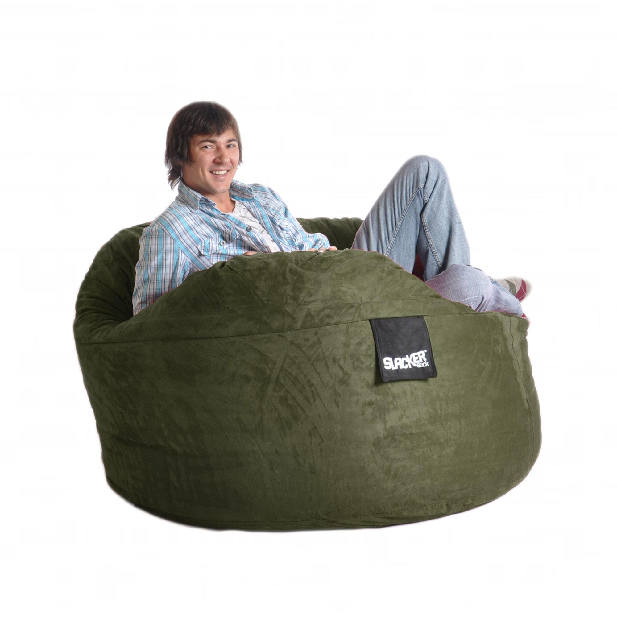 Slacker Sack Olive Green 5-foot Microfiber and Foam Bean Bag