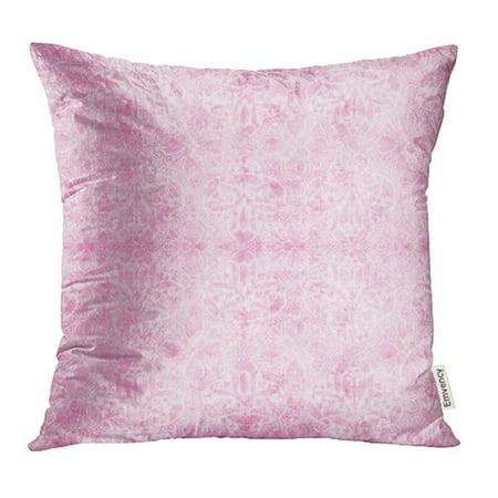 CMFUN Damask Vintage Light Pink Antique Baroque Floral Flower Jacobean Pastel Retro Pillowcase Cushion Cases 16x16 inch