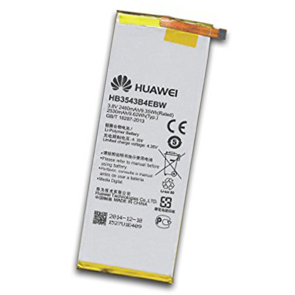 Original Huawei HB3543B4EBW 2460mAh Battery for Huawei Ascend P7 in Non-Retail Packaging
