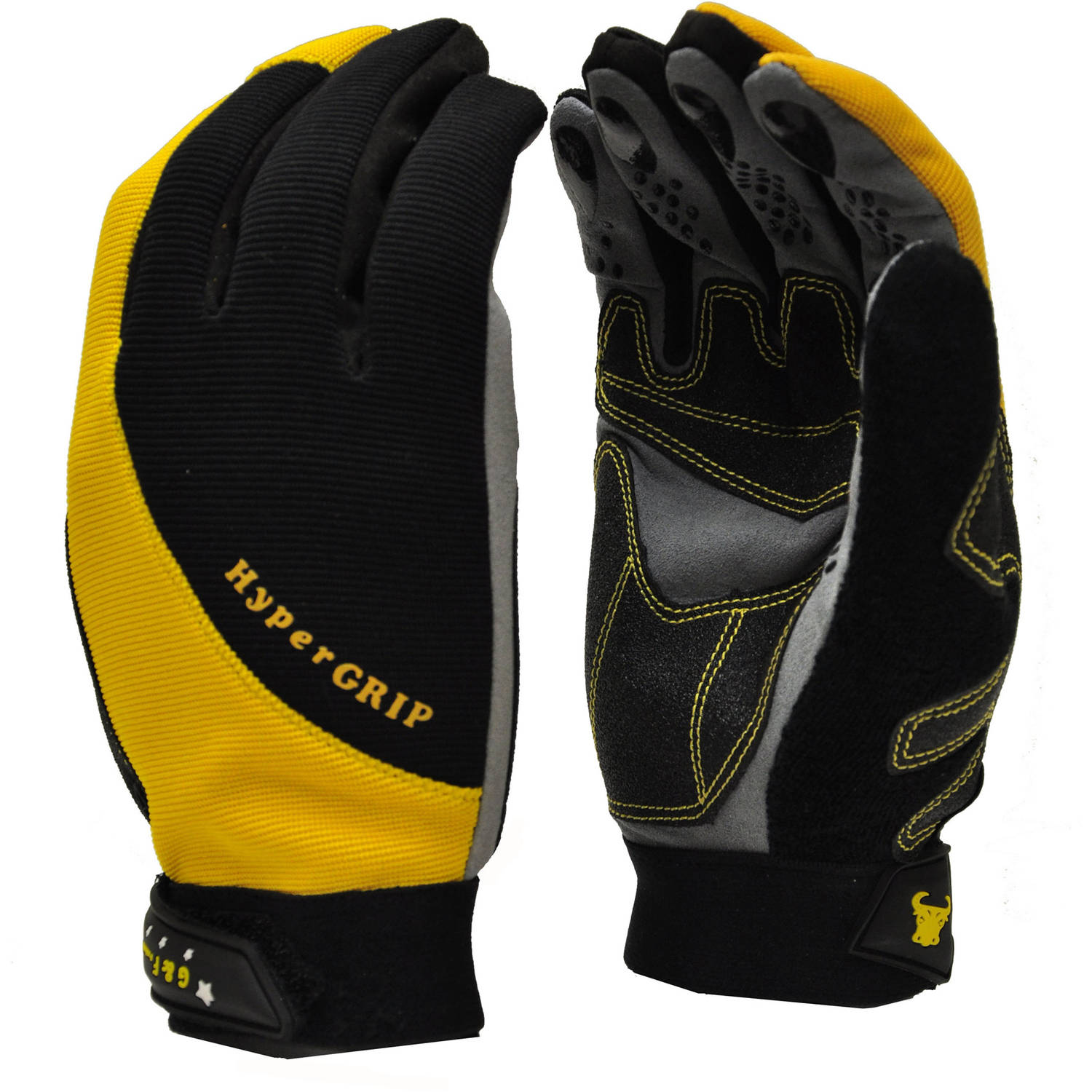 G & F Hyper Grip Non-Slip High-Performance Work Gloves, Large