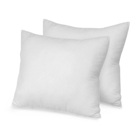 Pacific Coast Euro Rest Featherbed - Natures Rest Euro Square Pillows - Set of 2