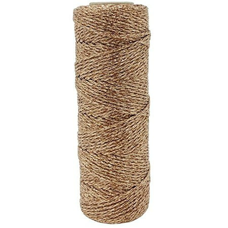 Just Artifacts Eco Metallic Bakers Twine 55yd 11 Ply Solid Rose Gold - Decorative Bakers String Twine for DIY Crafts and Gift