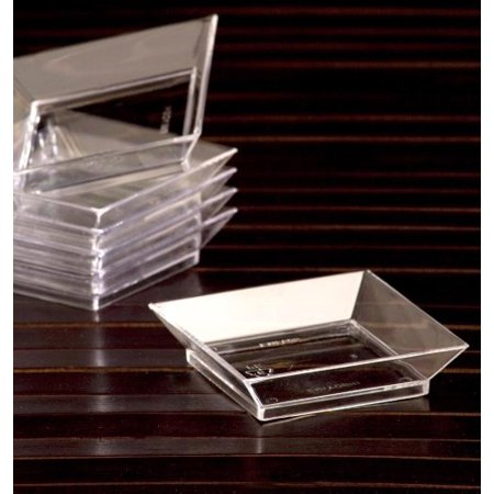 Emi Yoshi Relish Dish - Koyal Abyss Dish, 2.5-Inch, Clear, Set of 200, Our 2.5 Abyss Dish is a simple and elegant way to serve mini appetizers, mini desserts, snacks and more By EMI Yoshi Ship from US