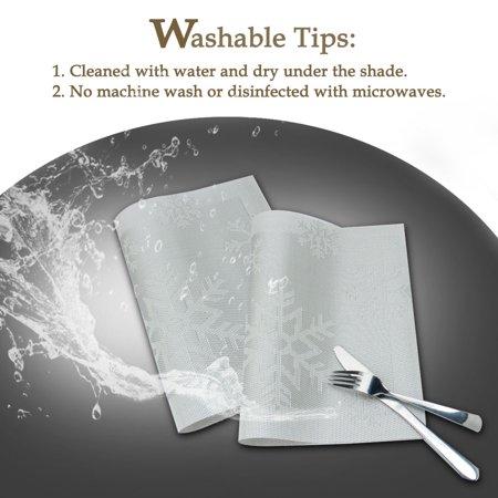 Placemats PVC Heat-resistant Non-slip Insulation Washable Table Mats 4pcs #19 - image 4 of 8