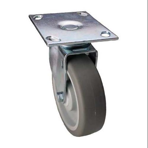 Swivel Plate Caster,4 in. Dia.,275 lb. ZORO SELECT 33H905