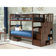 Columbia Staircase Bunk Bed Twin over Twin in Multiple Colors and Configurations