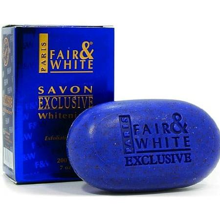 Fair and White Savon Exclusive Whitenizer Exfoliating Soap 7 oz