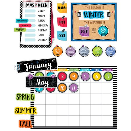 Creative Teaching Press Bold & Bright Calender Set Bulletin Board - Classroom Calendar