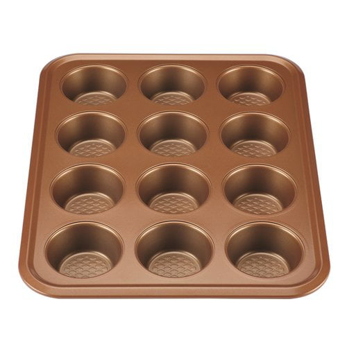 Ayesha Curry Nonstick Bakeware 12-Cup Muffin Pan, Copper by Meyer Corporation