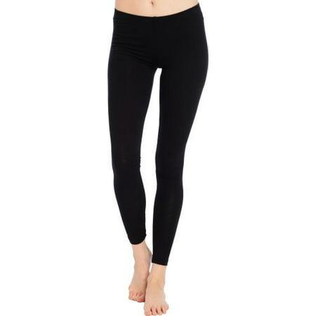Cotton Stretch Ankle Length Leggings, S, Dark-Rust