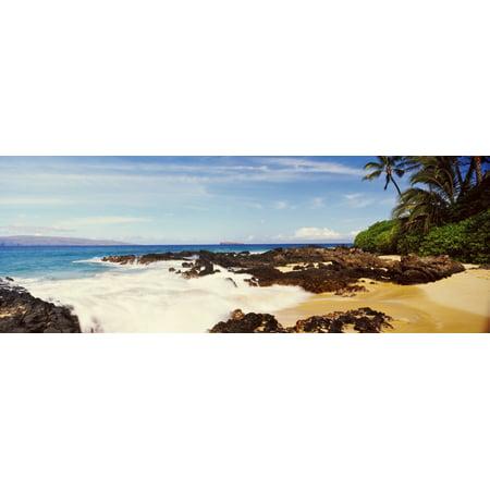 Surf On The Coast Maui Hawaii Usa Canvas Art Panoramic Images 36