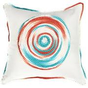 Multi Color Circular Pattern Cotton Throw Pillow