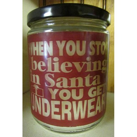 "Star Hollow Candle Company ""Underwear"" Evergreen and Citrus Jar Candle"
