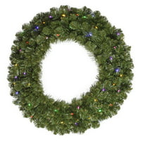 120 in. Pre-Lit Multi Colored LED Commercial Grade Grand Teton Wreath by Vickerman
