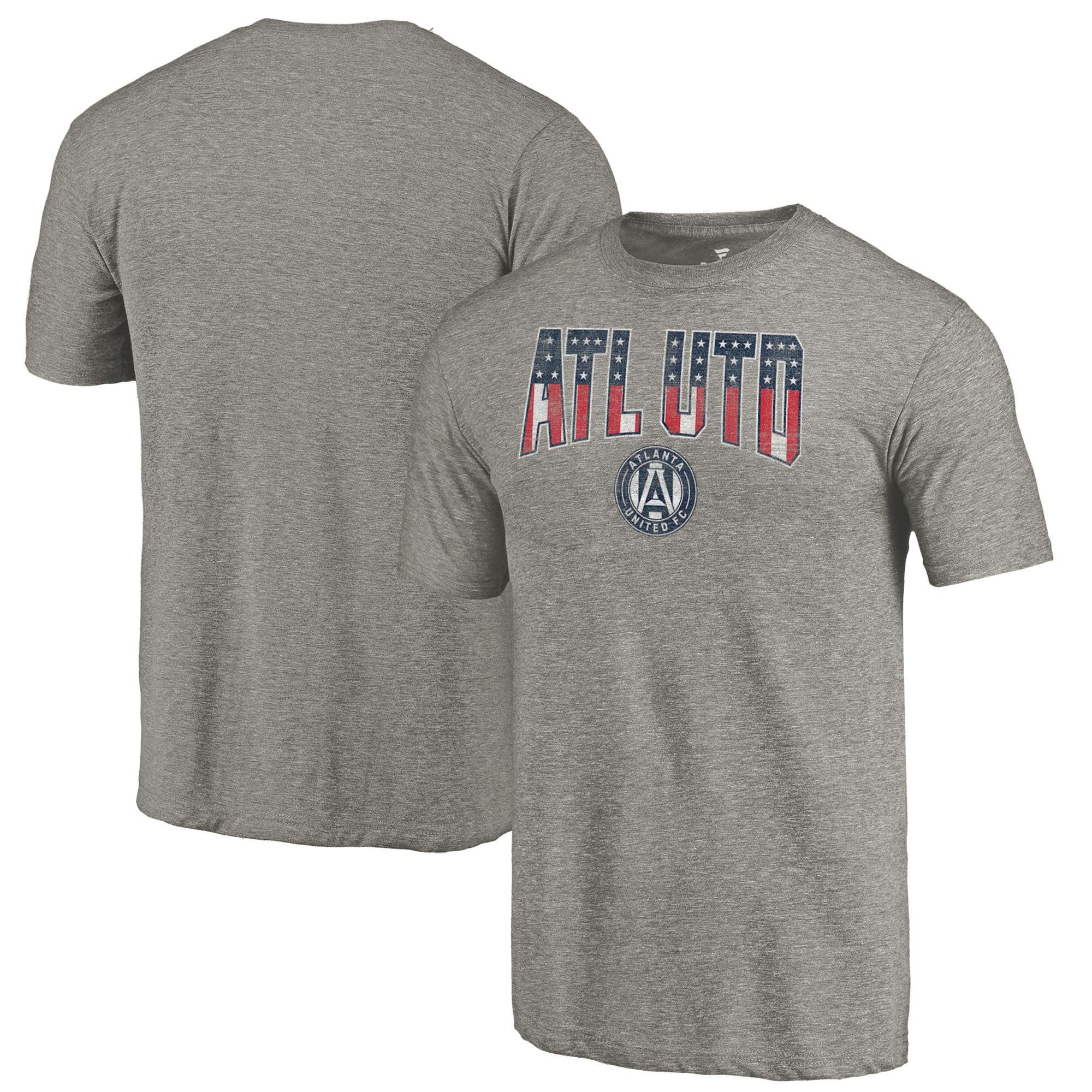 Atlanta United FC Fanatics Branded Freedom Tri-Blend T-Shirt - Gray