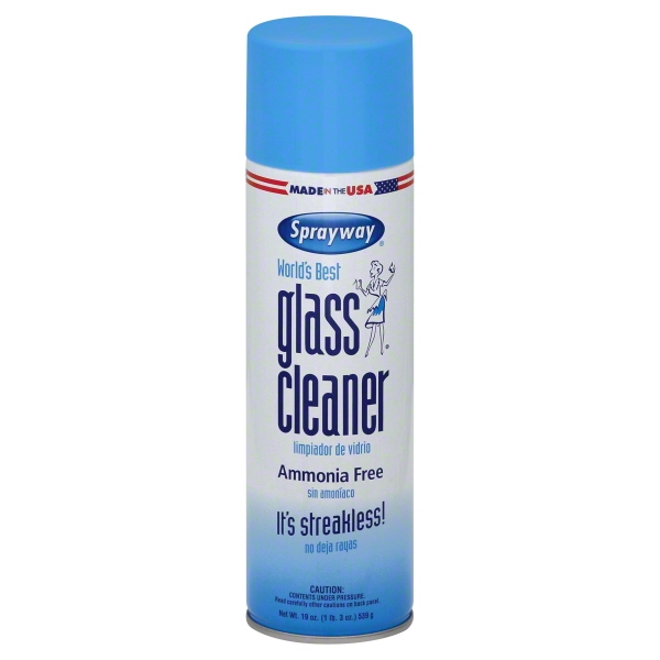 Sprayway Glass Cleaner Aerosol, 19 Oz