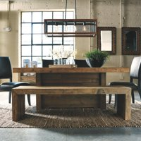 "Signature Design by Ashley 65"" Sommerford Wood Dining Bench, Brown Finish"