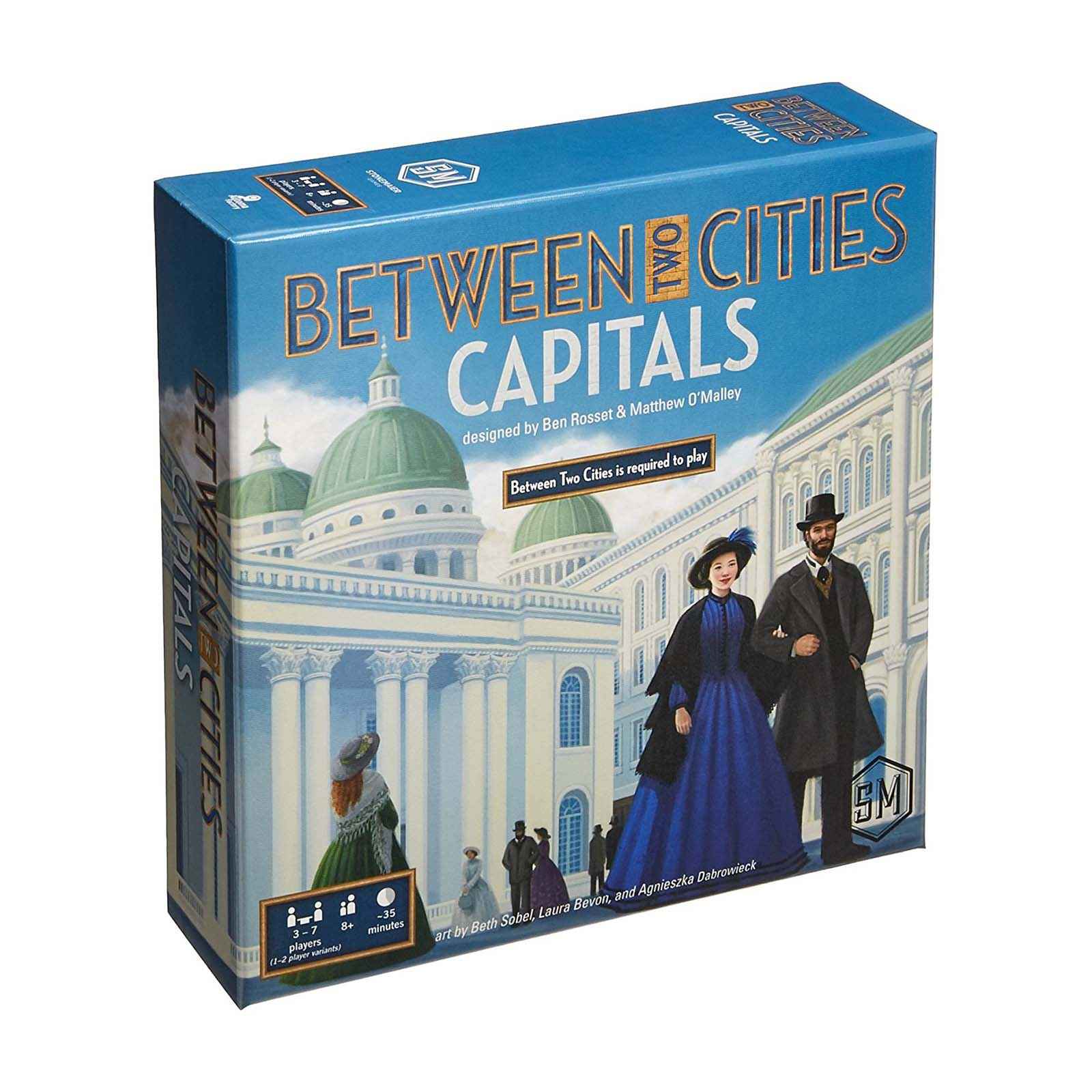 Greater Than Games Between Two Cities: Capitals Strategy Board Game by Greater Than Games