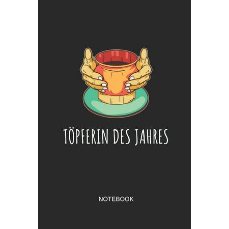 Töpferin Des Jahres Notebook : Liniertes Notizbuch - Töpfern Handarbeit Keramik Ton Geschenk (Handarbeit Holz)