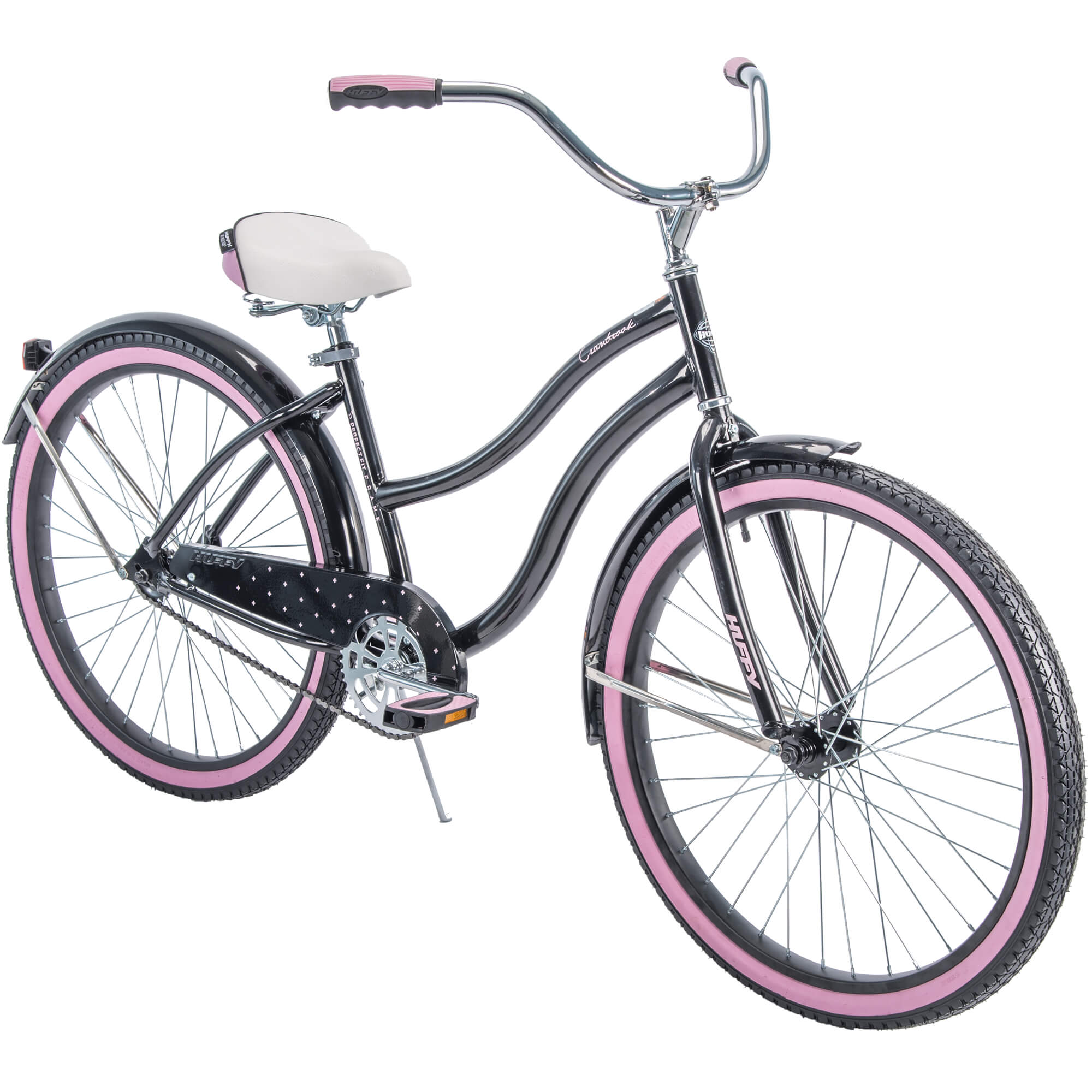 "Huffy 26"" Cranbrook Women's Cruiser Bike with Perfect Fit Frame, Black"