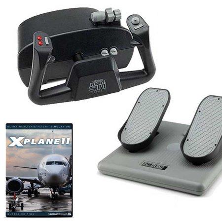 CH Products Basic Flight Sim w/X-Plane 11 DVD Bundle Ch Usb Flight Sim Yoke