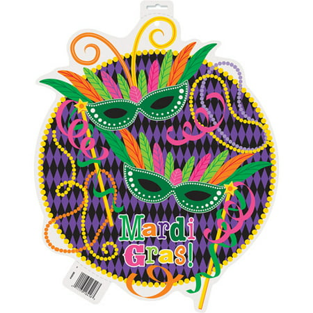 Paper Cut Out Mardi Gras Party Decoration](Mardi Gras Decoration)