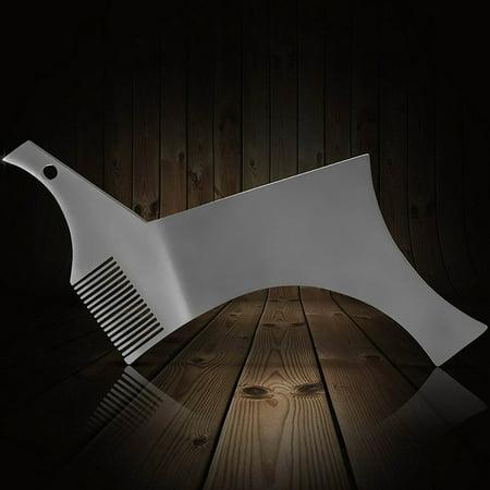 Barbe Shaper Pochoir en acier inoxydable Guide de mise en forme de barbe et outil de style pour un alignement parfait - image 2 of 7