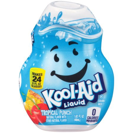 (12 Pack) Kool-Aid Tropical Punch Liquid Drink Mix, 1.62 fl oz Bottle