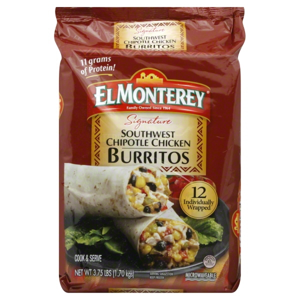 El Monterey® Signature Southwest Chipotle Chicken Burritos 3.75 lbs. Bag