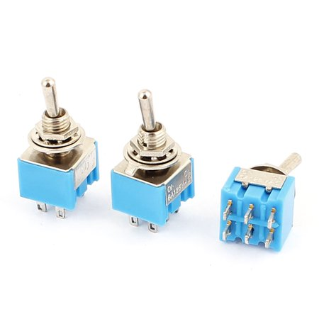 125V 6A DPDT ON-ON 2 Positions 6-pin Latching Miniature Toggle Switch 3 (Dpdt Miniature)