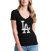 418c22f8320 Product Image Women s 5th   Ocean by New Era Black Los Angeles Dodgers  V-Neck Team T