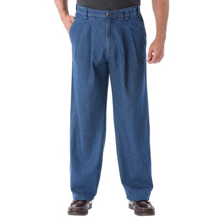 Kingsize Men's Big & Tall Relaxed Fit Comfort Waist Pleat-front Expandable