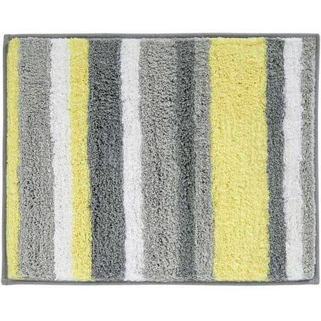InterDesign Microfiber Stripes Bathroom Shower Rug, 21