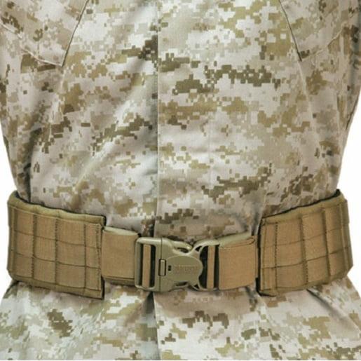 "Blackhawk 41PBT2DE Coyote Tan Padded Patrol Belt w/IVS - Size Medium 43""-49"""
