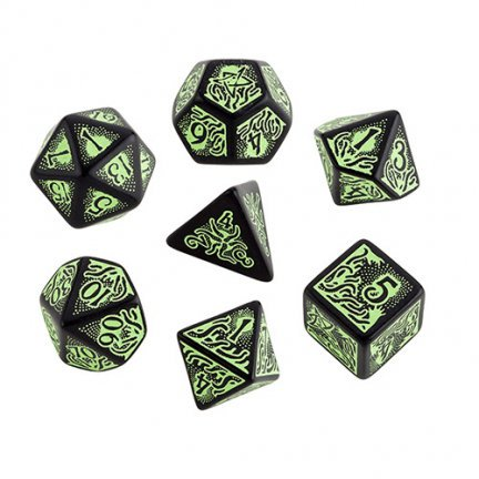 Call of Cthulhu Dice (7th Edition), Black/Green (Call Of Cthulhu 6th Edition Character Sheet)