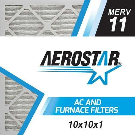 Aerostar 10x10x1 MERV  11, Pleated Air Filter, 10 x 10 x 1, Box of 6, Made in the USA ()