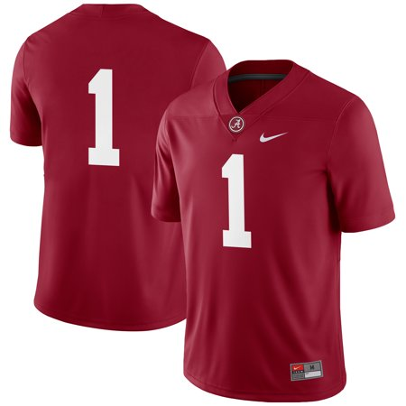 #1 Alabama Crimson Tide Nike Football Game Jersey - Crimson