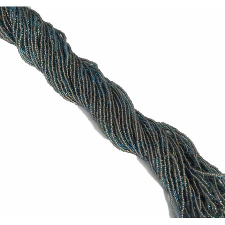 Light Blue Transparent Copper Lined Czech 11/0 Glass Seed, Loose Beads, 1 Full Hank Preciosa