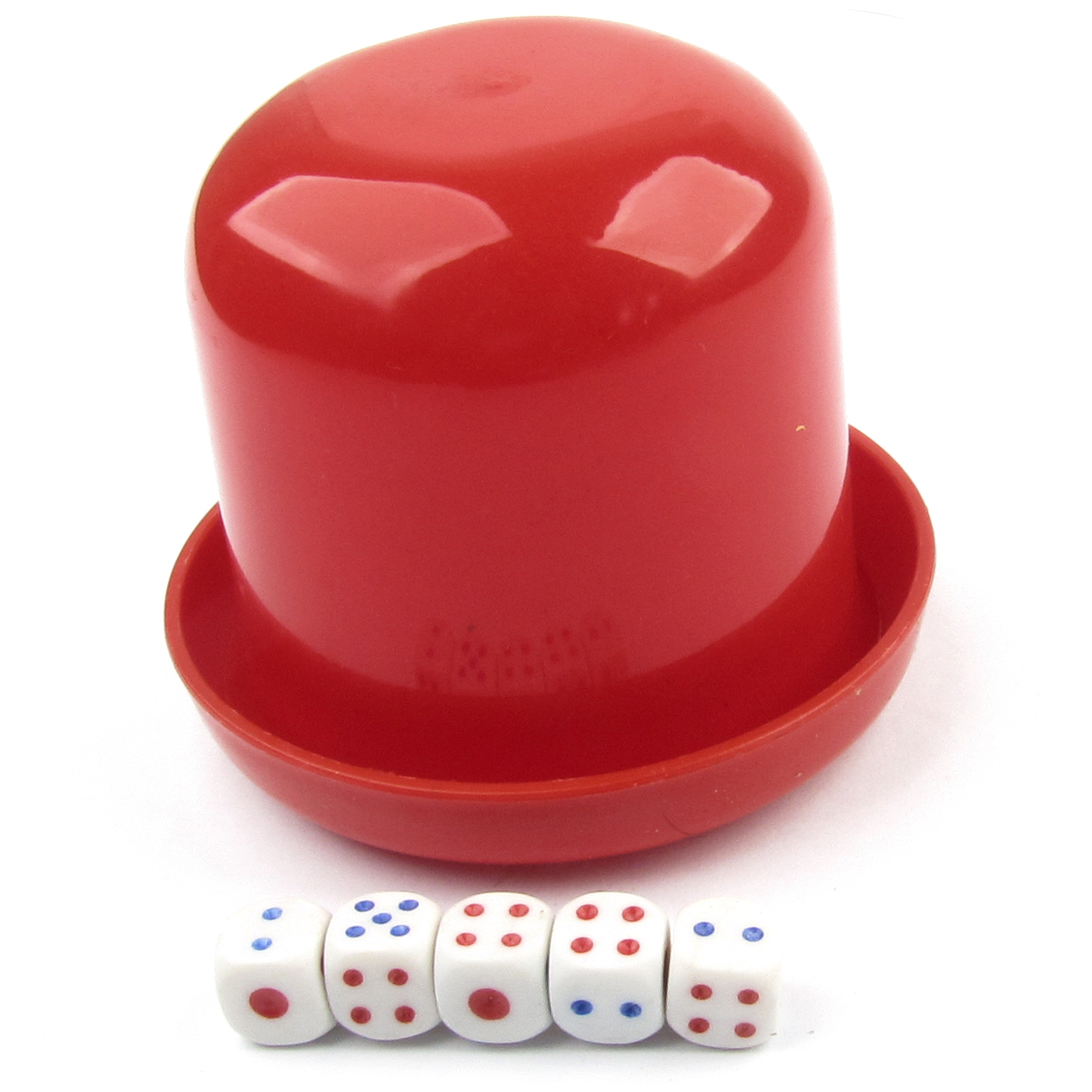 Unique Bargains Game Dice Roller Cup Red w Dices