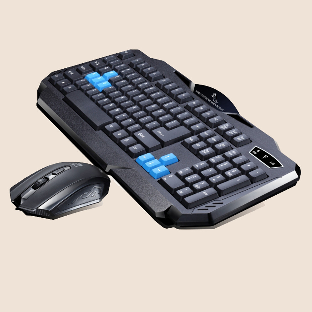 Gaming wireless 2.4G keyboard and Mouse Set to computer M...