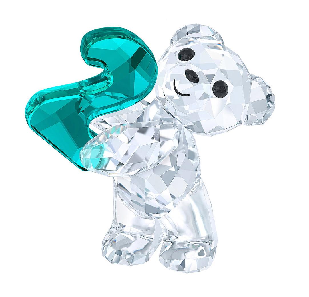 e59c01e90f Swarovski Crystal Figurine KRIS BEAR NUMBER TWO Number 2 Birthday #5063342  - Walmart.com