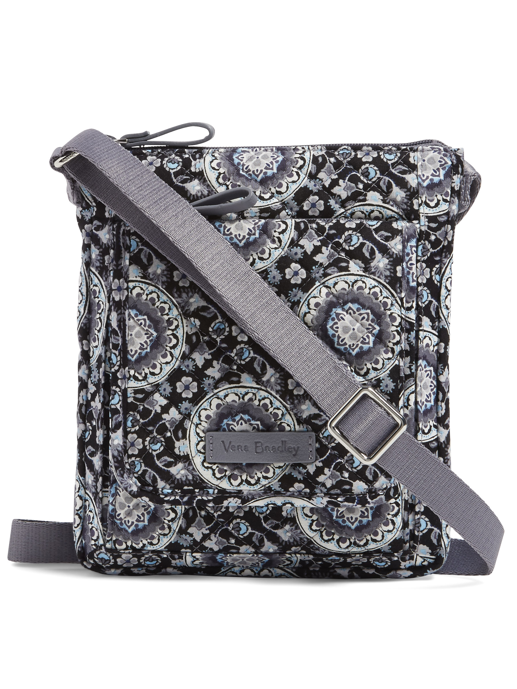 Mini Mini Hipster Iphone 6 Plus Case Smart Phone Case Adjustable Strap Quilted Fabric Paisley Multi Color Black