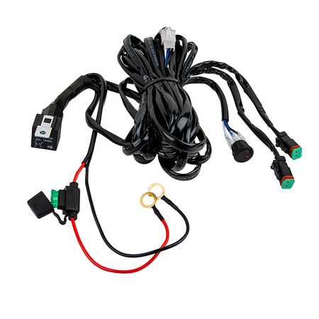 Totron Dual DT Plug Wiring Harness with Switch. For 2