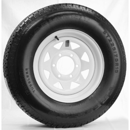 Radial Trailer Tire On Rim St225 75r15 225 75 15 15 D 6 Lug Wheel