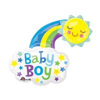 "Burton & Burton  30"" Baby Boy Bright Balloon"