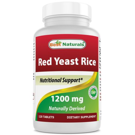 Best Naturals Red Yeast Rice 1200 mg 120 Tablets