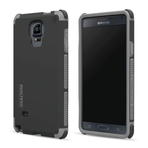 PureGear DualTek Protective Cell Phone Case - Samsung Galaxy Note 4 - Black