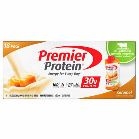 Premier Protein Caramel High Protein Shakes, 11 fl oz, 18 count pack (Caramel Protein Shake)