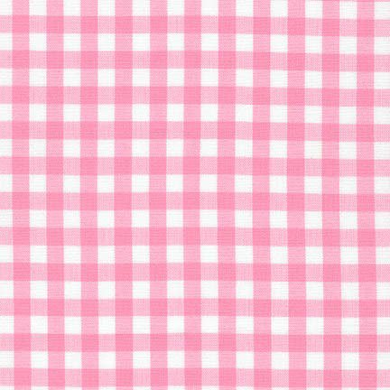 Robert Kaufman Carolina Gingham Check Quarter Inch 1/4 Candy Pink