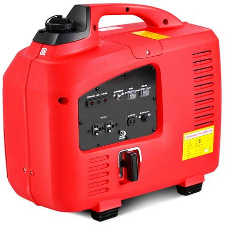 Costway Portable 2750W Digital Inverter Generator 4 Stroke 125cc Single Cylinder Red